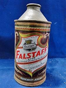 Vintage Falstaff Beer Cone Top Beer Can