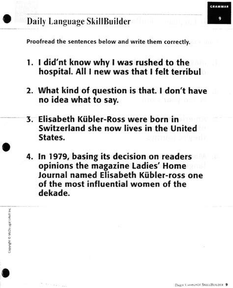 3rd grade sentence editing worksheets 1st grade