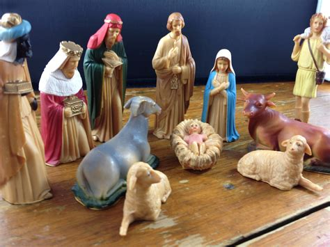 vintage plastic nativity set 12 pieces by elodievintagehome