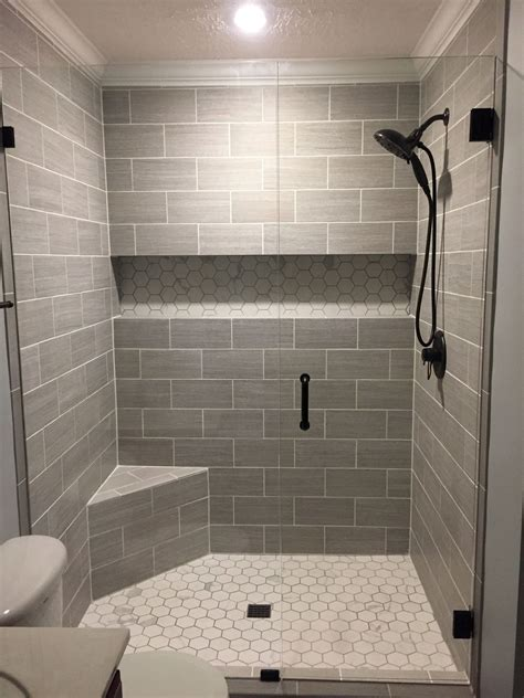Bathroom Shower Floor Tile Ideas by Our Finished Walk In Shower Walls Florim Usa 6x24 Cut