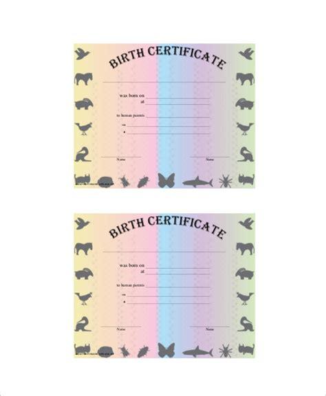 sample birth certificates  ms word