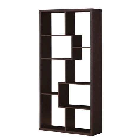 Bookcases At Home Depot by Acme Mileta Cappuccino Open Bookcase 92089 The Home Depot