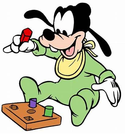 Goofy Disney Clip Disneyclips Babies Pluto Blocks