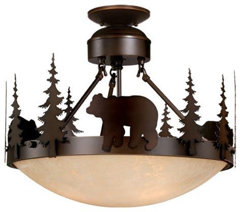 rustic flush mount ceiling lights bozeman 18 quot semi flush mount light rustic flush mount