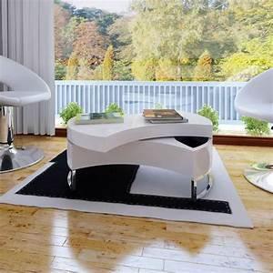 Design Couchtisch Weiss : couchtisch kaffeetisch formverstellbar hochglanz design wei g nstig kaufen ~ Pilothousefishingboats.com Haus und Dekorationen