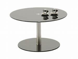 Round glass coffee table round glass coffee table wood for Glass top circle coffee table