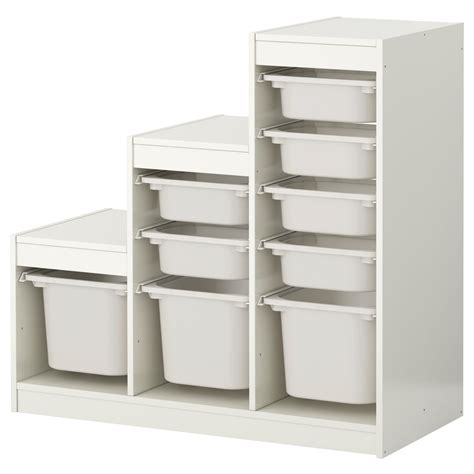 Trofast Storage Combination With Boxes Whitewhite