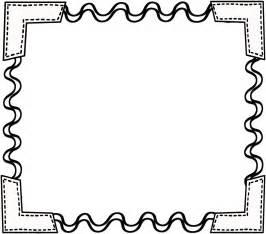 Black and White School Border Clip Art