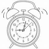 Clock Alarm Vector Coloring Illustration sketch template