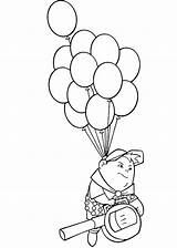 Coloring Disney Balloons Flying Russell Pages Balloon Baloons Clipart Without Movie Drawing Pixar Template Az Line Sketch Kid Train Popular sketch template