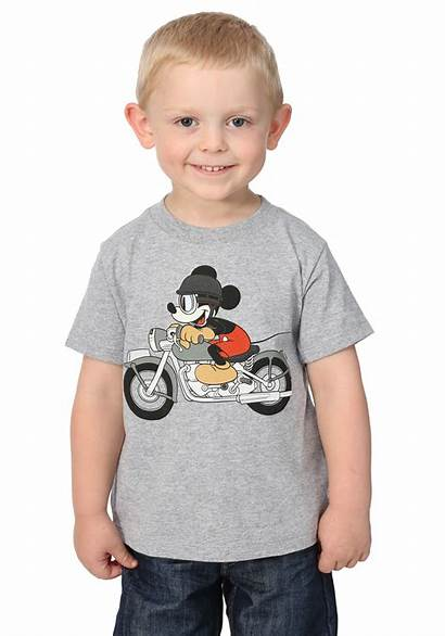 Boys Toddler Mickey Mouse Tee Motorcycle Fun