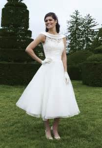 informal wedding dresses uk vintage satin and lace wedding dress with tea length