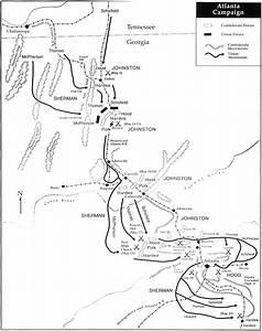 Atlanta Campaign Map Civil War Maps Of Battles