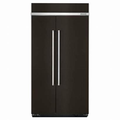 Side Kitchenaid Stainless Steel Refrigerator Refrigerators 42