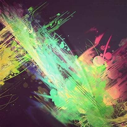 Splash Wallpapers Paint Abstract Ipad Bright Cool