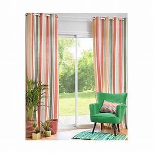 Rideaux Maison Du Monde Occasion : rideau illets en coton ray multicolore with maison du monde voilage ~ Dallasstarsshop.com Idées de Décoration