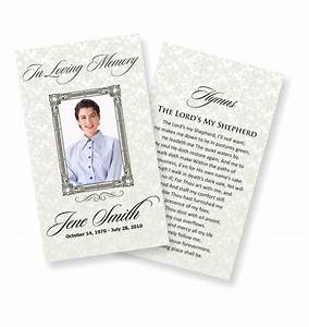 Funeral prayer cards examples temporarily urgent for Funeral memory cards free templates