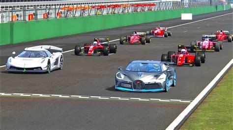 And, rightfully so, since bugatti designed the divo to bend. Koenigsegg Jesko vs Bugatti Divo vs 90s Ferrari F1 Cars - Monza - YouTube