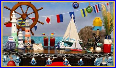 table decorations for birthday dinner nautical decorating ideas hosting guide