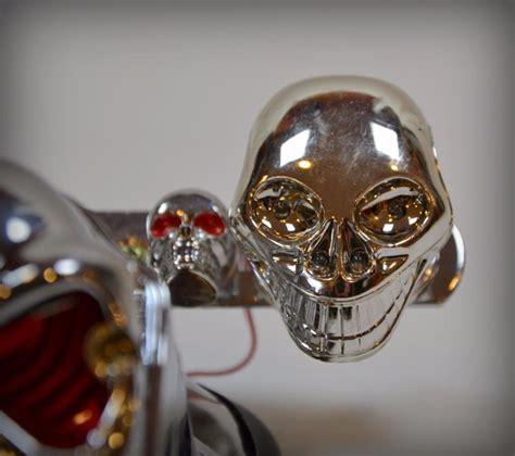 feu arri 232 re support de plaque t 234 te de mort clignotants skull moto custom ebay
