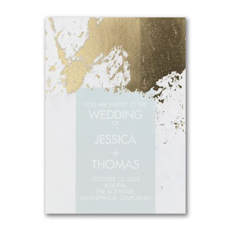 Contemporary Shine Invitation in 2019 Simple wedding