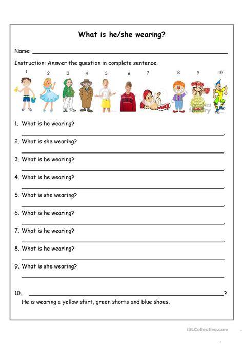 What Is Heshe Wearing? Worksheet  Free Esl Printable Worksheets Made By Teachers