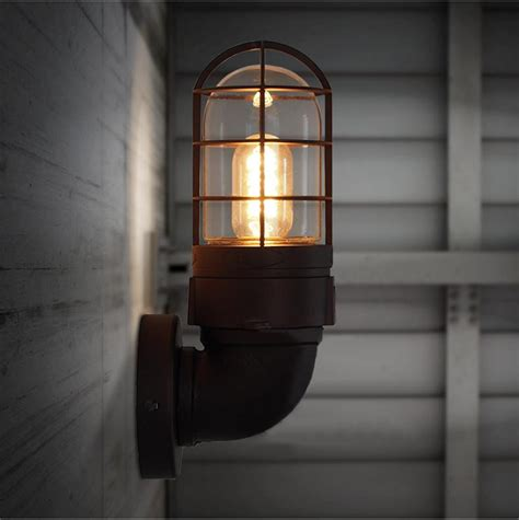 industrial wrought iron wall ls retro wall light rustic wall sconce vintage light fixture