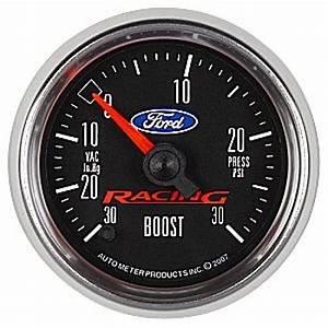 Auto Meter Ford Racing Full Sweep 30psi Vacuum  Boost Gauge