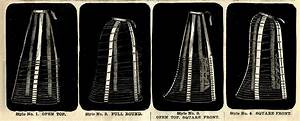Four Vintage Wire Hoop Cage Skirt Diagram Graphic
