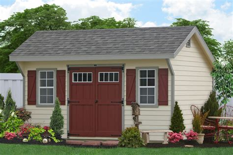 10x20 Saltbox Wood Storage Shed by Classic Garden Sheds From The Amish In Lancaster Pa