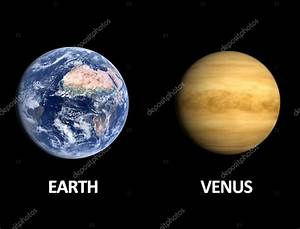 Planets Earth and Venus — Stock Photo © Tristan3D #35356409