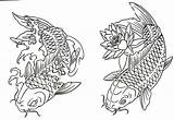 Fish Koi Outline Coloring Pages Tattoo Drawing Mandala Printable Coy Sheet Dragon Drawings Cute Collection Flickr Water Sketch Recent Bestappsforkids sketch template