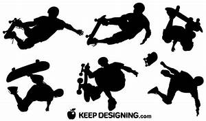Skateboard Vector Silhouettes   Download Free Vector Art ...