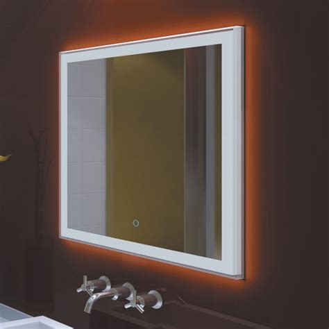 Bathroom Wall Mounted Mirrors by Bathroom Wall Mounted Led Lighted Vanity Mirror 27 X 28
