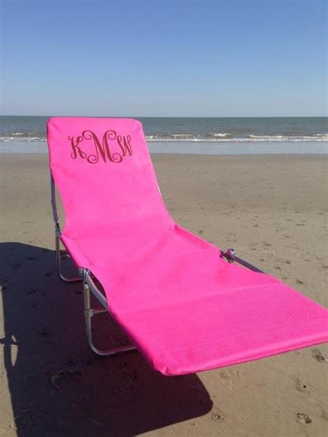monogrammed lounge chair black