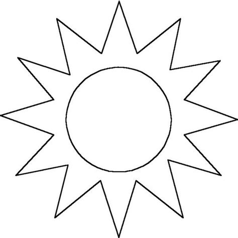 Sun Template Sun Outline Liked On Polyvore Featuring Fillers Outlines