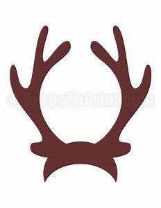 Printable reindeer antlers photo booth prop. Create DIY ...