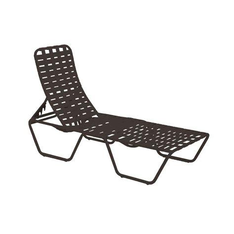 tradewinds lido crossweave contract black patio chaise