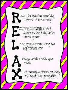 R E L A X  Test Prep Poster By Caffeine And Lesson Plans