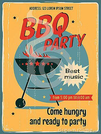 vintage bbq grill party poster bbq pinterest grill