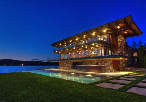 million contemporary waterfront home  quebec canada homes   rich