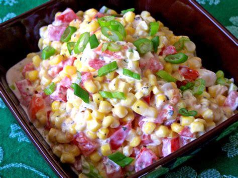 creamy corn salad recipe foodcom