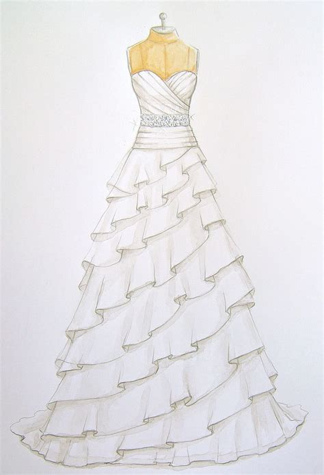 drawn gown dress sketch pencil   color drawn gown
