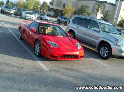 acura nsx spotted in orlando florida on 10 02 2005