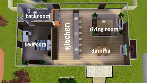 Sims 3 Floor Plans Small House by Mod The Sims Small Modern Studio