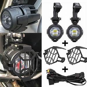 Motorcycle Assembly Led Fog Lights  U0026 Protector Guards With Wiring Harness For Bmw R1200gs F800gs