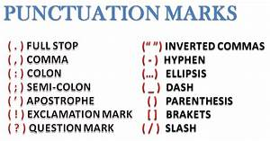 ENGLISH LESSONS: PUNCTUATION MARKS