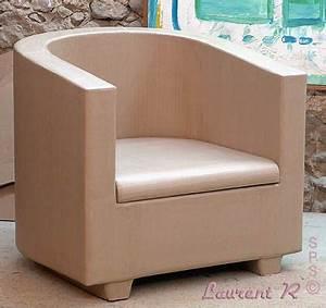 Fabriquer Un Fauteuil : fauteuil carton de type demi cylindrique meuble en ~ Zukunftsfamilie.com Idées de Décoration
