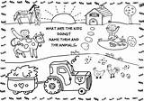 Farm Coloring Pages Worksheet sketch template