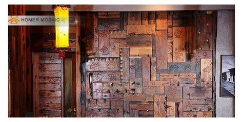 natural rustic wood wall tile kitchen wall tiles